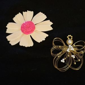 Pair of Vintage Brooches